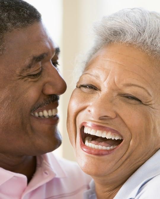 happy older couple smiling